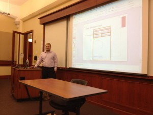 Eric Couper presents at Columbia University.