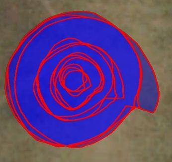 Circles recorded using the Galaxy Tab 7.0