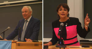 """Ambassador Mekouar and Minister El Haite of Morocco describe their goals and plans for COP 22 to attendees at the Sabin Center's September 19, 2016 event, """"Next Steps for International Climate Action"""""""